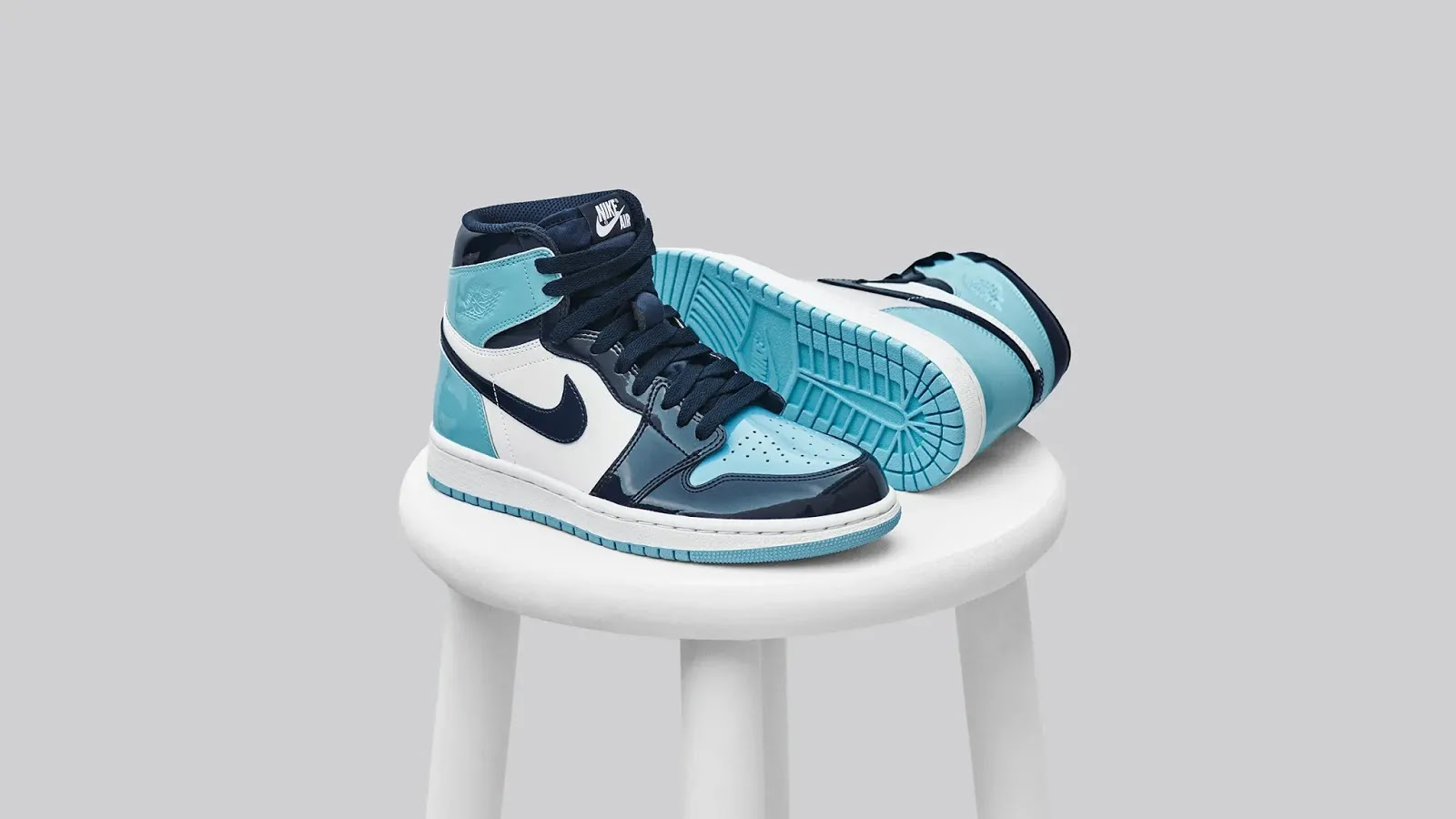 a14a22f08eb  Raffle  Air Jordan 1 Retro High OG W  Obsidian Blue Chill White