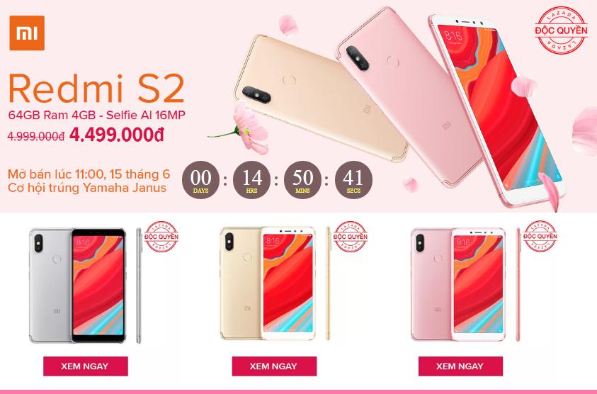 Lazada Flash Sale Xiaomi Redmi S2 Giá 4 499 000đ