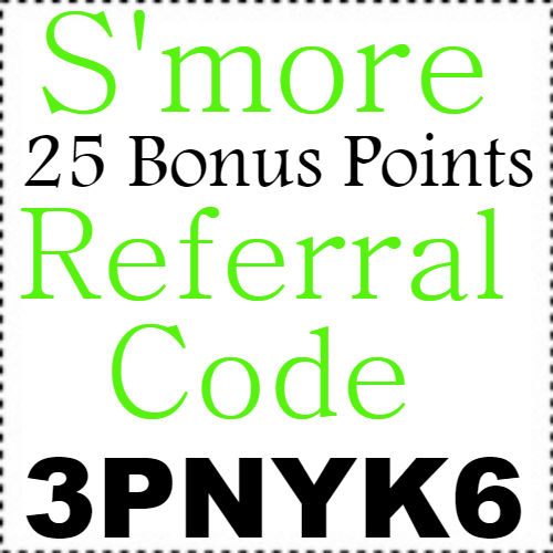 25 Bonus Points S'more App Referral Code, Sign up Bonus and Reviews 2018-2019