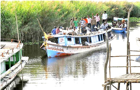 Akividu to Kolleru Boat Ride