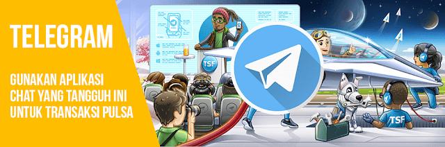 Cara Transaksi Isi Pulsa Menggunakan Telegram