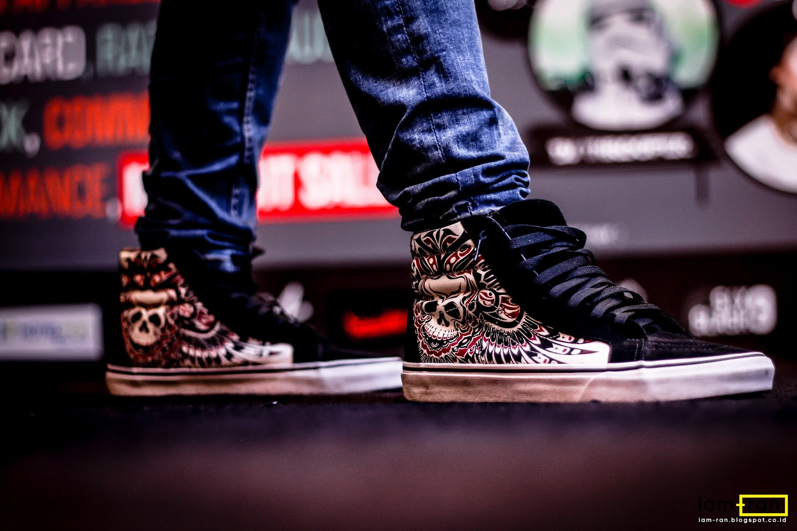 ON FEET   Ade - Vans SK8 hi skull machine. Ade on feet. Sneakers   Vans SK8  hi ... 6a1e526170