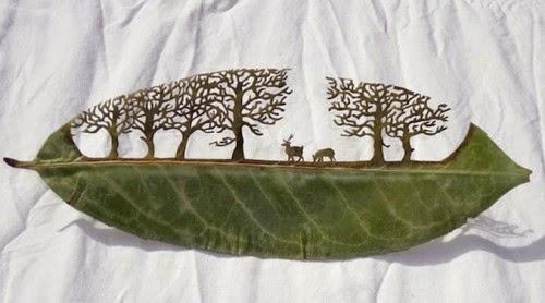 awesome leaf artwork