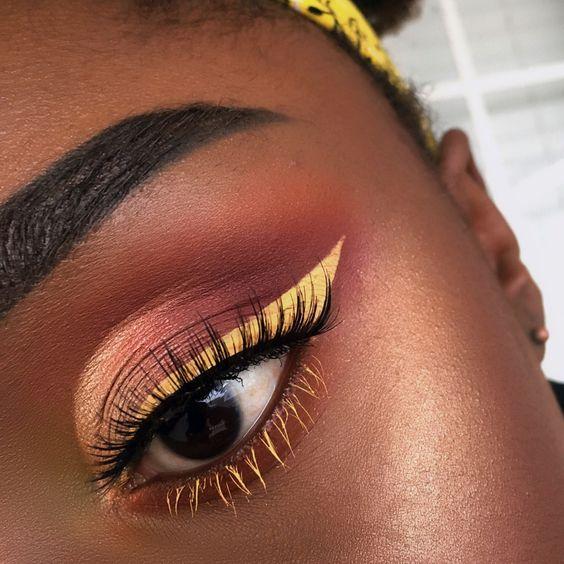 make-up summer look yellow