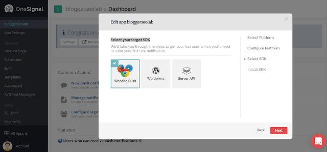 free web push notification in blogger blog