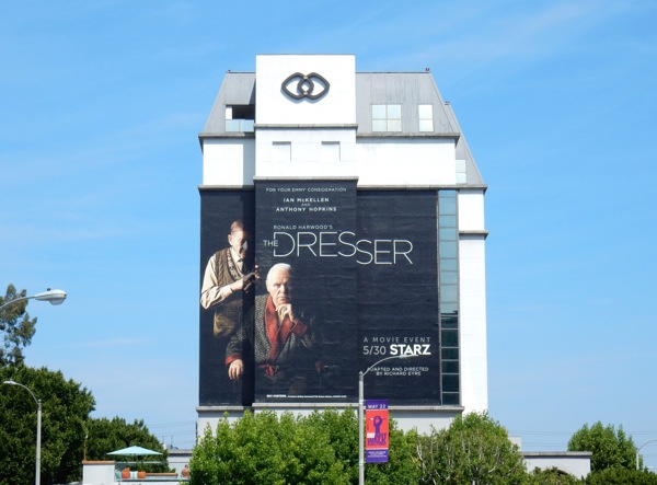 The Dresser giant movie billboard