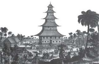 Masjid di Jepara menurut pelukis Belanda yang berada dekat pelabuhan