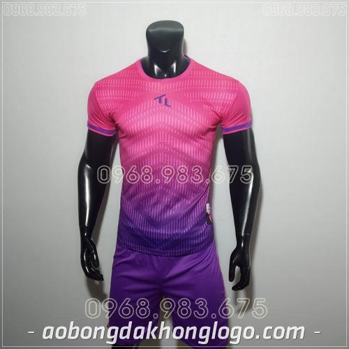 Áo bóng đá không logo TL Rius màu hồng