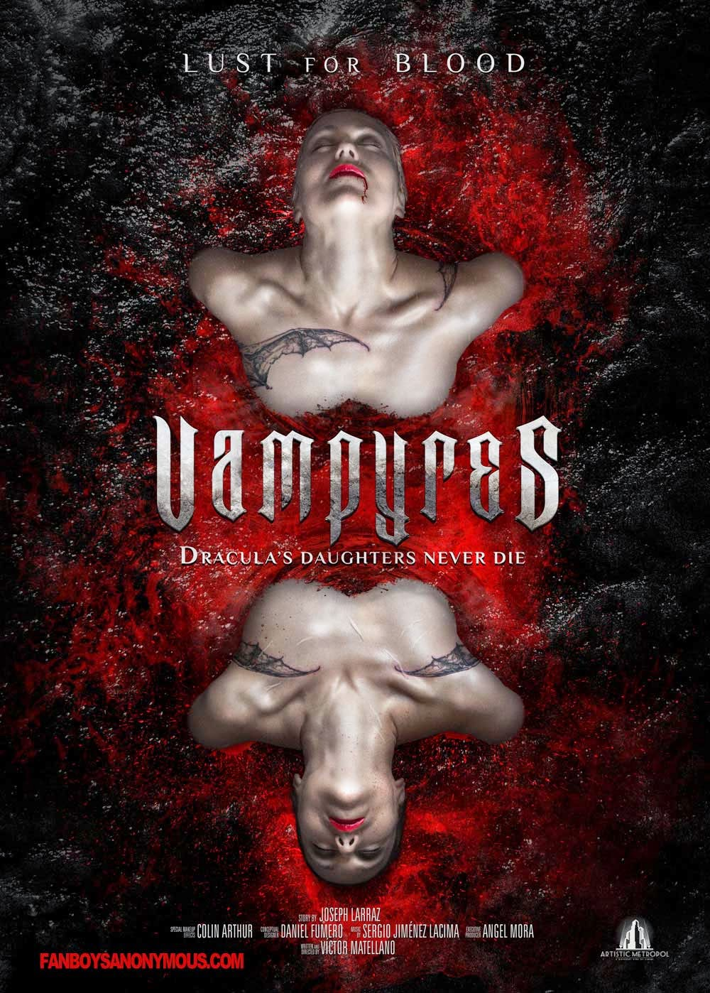 vampires art poster sexy blood horror lust sex
