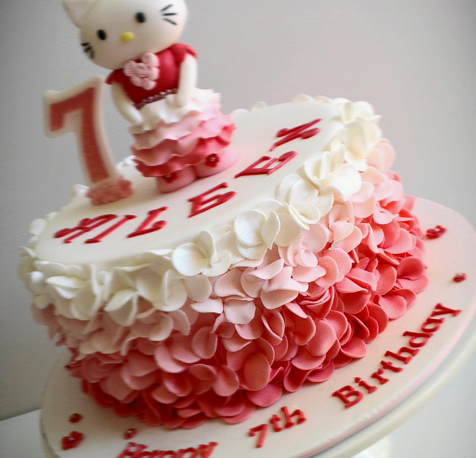 Heavenly Dlights Hello Kitty with Ruffles Birthday Cake for Aileen