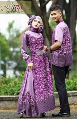 Desain baju muslim berpasangan terbaru