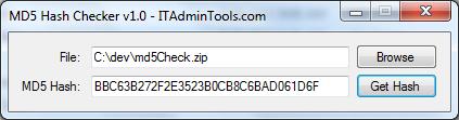 ITAdminTools com: Free Utility - MD5 Checksum Viewer For Windows