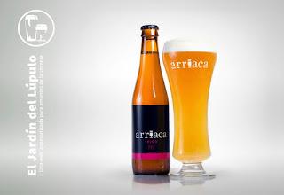 Cerveza artesana Arriaca Trigo, Weissbier en su vaso