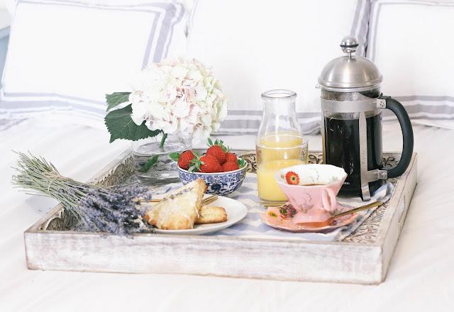 Orange Scones with Lavender Glaze Mother's Day Breakfast in Bed