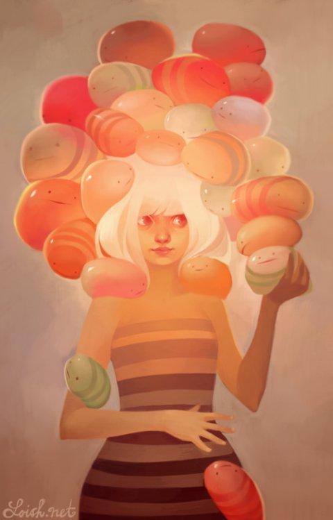 Lois Van Baarle loish deviantart ilustrações mulheres meigas fofas coloridas fantasia surreal cotidiano