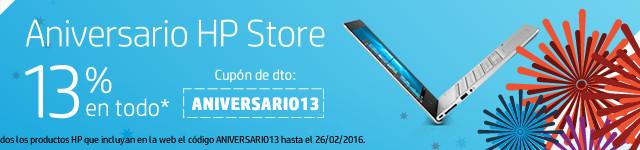 Promoción 13 Aniversario de la HP Store