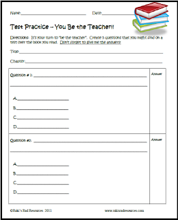 Making your own test taking questions - downloadable resource from Raki's Rad Resources