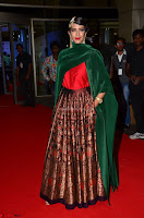 Manchu Lakshmi in a Strange Green Saree at 64th Jio Filmfare Awards South ~  Exclusive 009.JPG