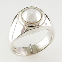 Mens pearl ring |Jewellery Images