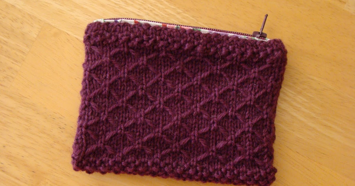 Knackful Knitter A Knitted Coin Purse For Me