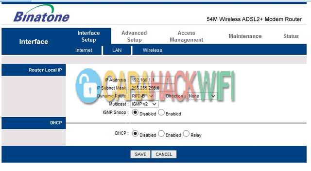 cara mudah membobol password wifi pada router binatone