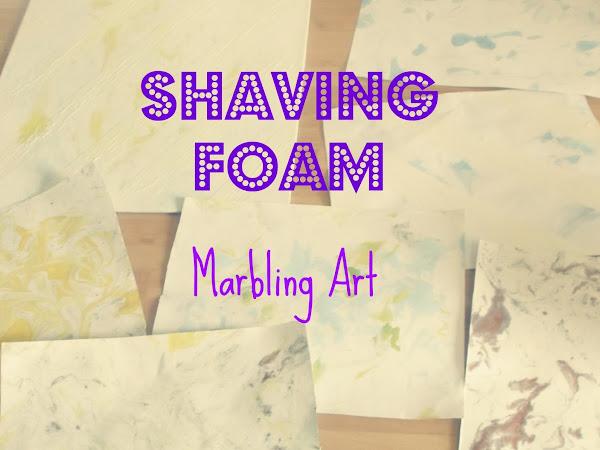 DIY Shaving Foam Marbling Art