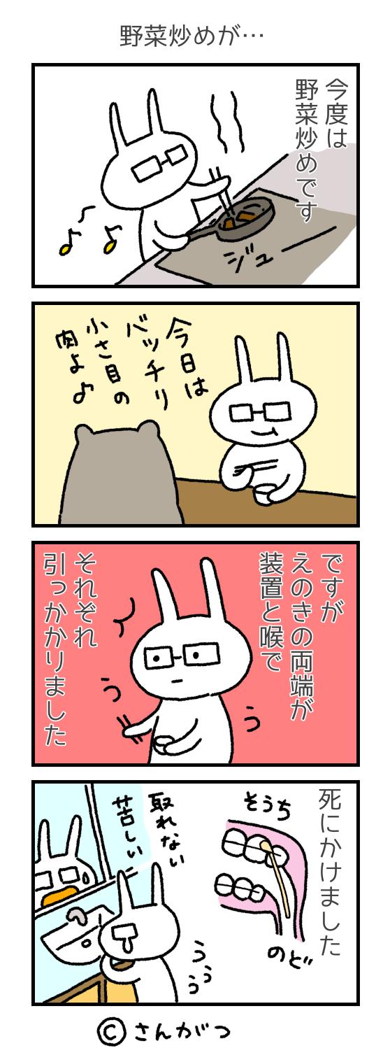 歯科矯正の漫画20 焼き肉と野菜炒め編