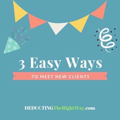 how to find small business clients | www.deductingtherightway.com
