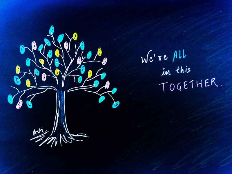Our friendship tree doodle art