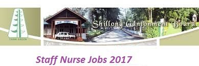 Staff Nurse, Staff Nurse jobs, Staff Nurse Vacancy, Staff Nurse Recruitment, Staff Nurse Posts, Staff Nurse job, Shillong Cantonment Board,Staff Nurse Jobs in Meghalaya,