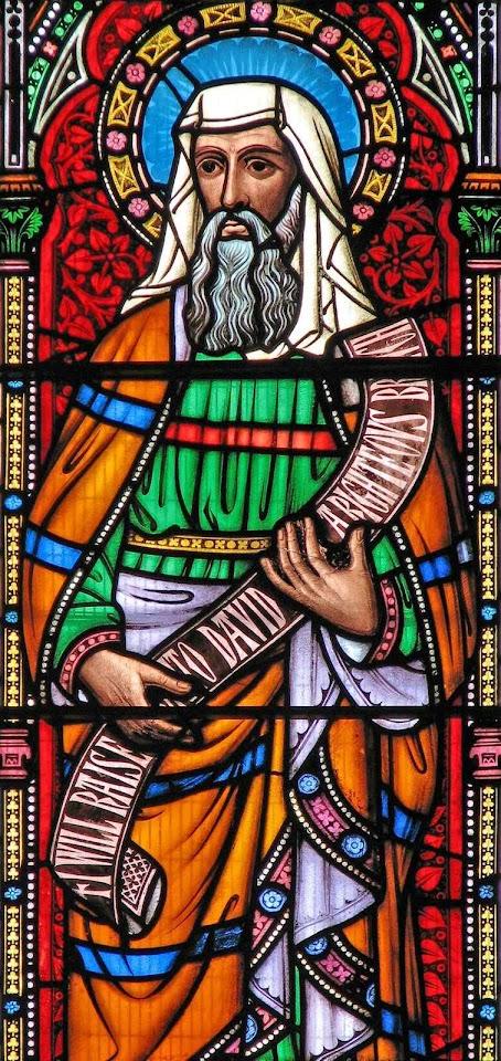 O profeta Jeremias vitral de Santa Maria de Castro, Leicester, Inglaterra