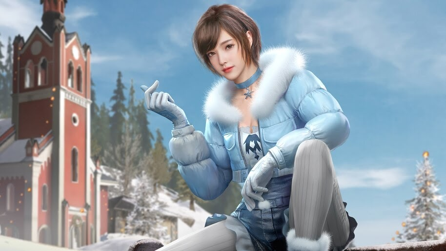 PUBG, Girl, Mobile, Winter Lady Set, Skin, Outfit, 4K, #7.795