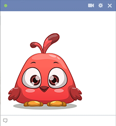Red bird sticker for Facebook