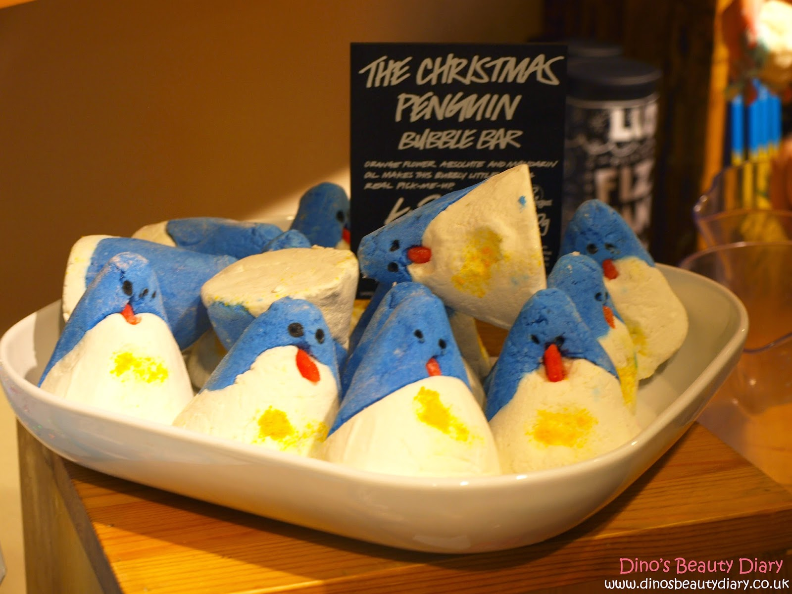 Dino's Beauty Diary - Lush Nottingham Bloggers Event - christmas penguin bubble bars