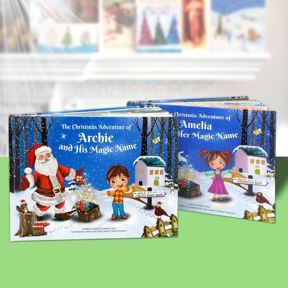 this personalized childrens christmas story book idea is a great gift idea for children aged 2 8 years old love that every personalized book is entirely