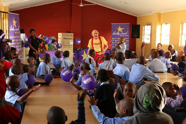 The Hollywoodbets team with children from the KZN Cerebral Palsy Association