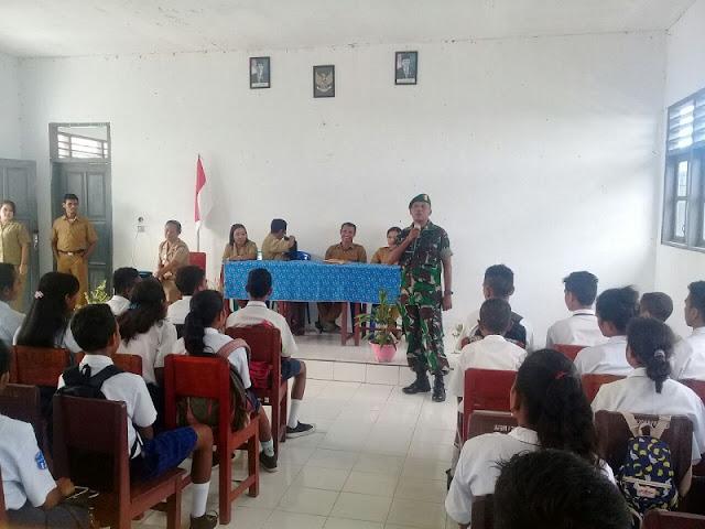 Siswa SMK Negeri Pulau-Pulau Aru Terima Wawasan Kebangsaan dan Bela Negara