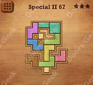 Cheats, Solutions, Walkthrough for Wood Block Puzzle Special II Level 67