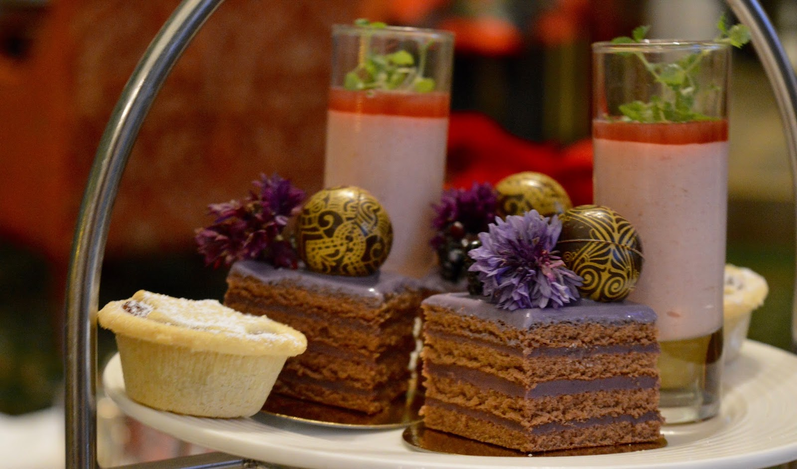 Afternoon tea at Wynyard Hall (with kids) - A Review - chocolate cake and mince pie