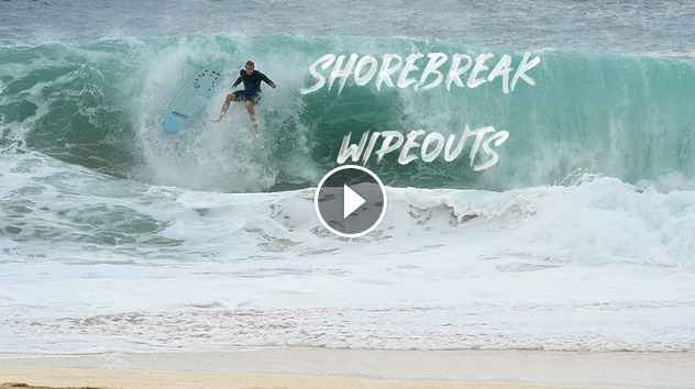 CRAZY WIPEOUTS AT KEIKIS SHOREBREAK