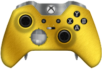 gold elite xbox one controller