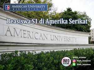 Beasiswa S1 di Amerika Serikat oleh American University Washington DC