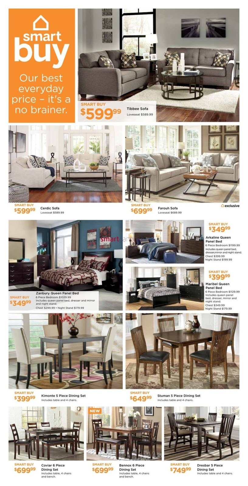 Ashley home furniture flyer august 17 30 2017 weekly for Ashley furniture homestore canada