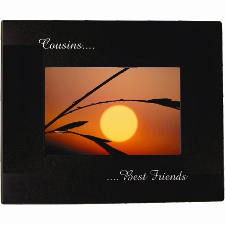 Etched Black Metal Picture Frame