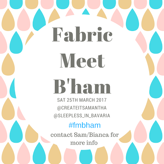 Fabric Meet Birmingham #fmbham Are you there?