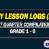 Daily Lesson Logs (1ST QUARTER COMPILATION)