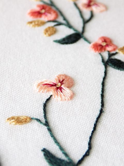 Aqua Botanicals designs Stitch Floral