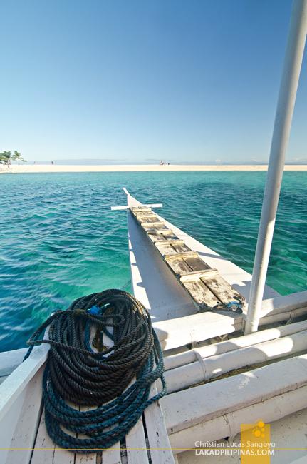 Kalanggaman Island Palompon Leyte Boat