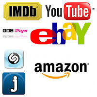 google apps browsing - imdb, youtube, bbc iplayer, ebay, shazam, amazon, jango