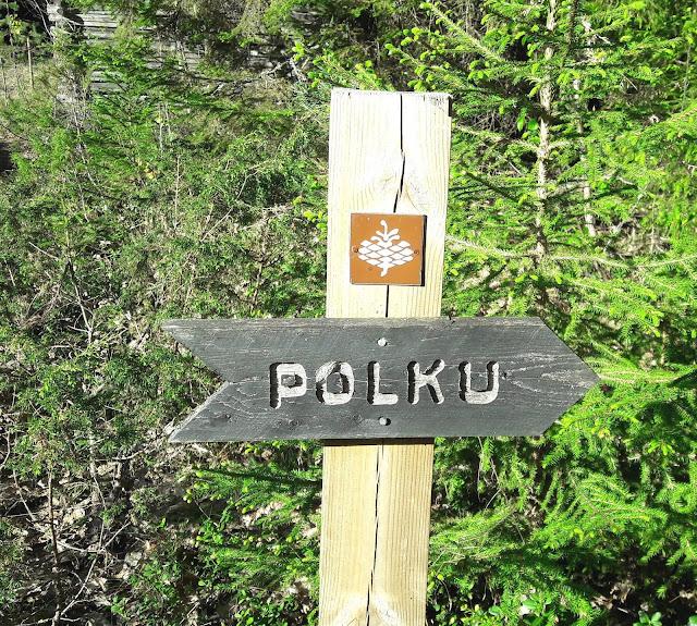 Path to Liimanninkoski Muhos Finland